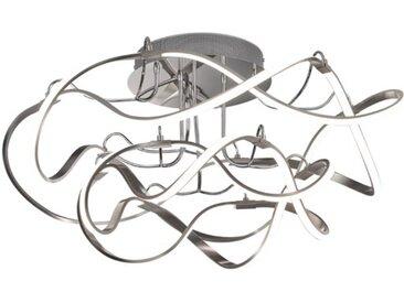 Fischer & Honsel LED-Deckenleuchte NAXOS, 80 cm Alu, Eisen, Stahl