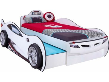 Cilek Autobett mit Ausziehbett Coupe 90 x 190 cm /Weiß