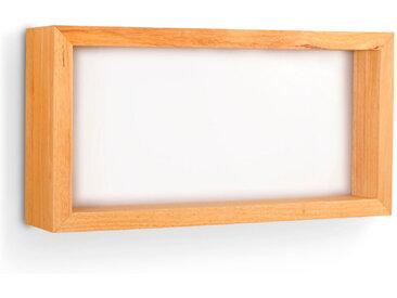 FABAS LED-Wandleuchte WINDOW /Braun, 30,5 x 60,5 cm Holz