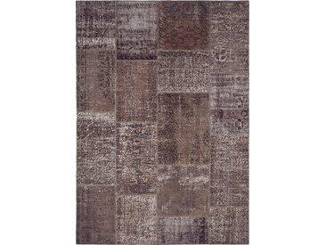 Vintage Teppich Patchwork 140 x 200 cm /Anthrazit, Mischgewebe