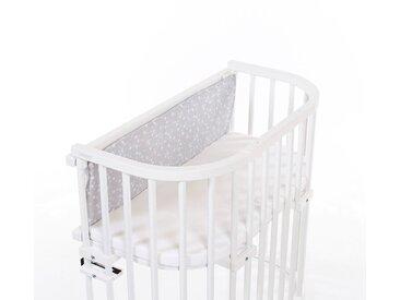 babybay Gitterschutz /Hellgrau / Weiß
