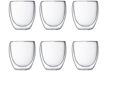 bodum Gläserset Pavina 250 ml 6tlg. /Klar, M (Medium) Glas
