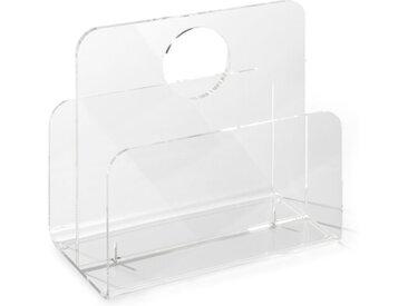 Zeitungsständer Brescia /Transparent, Kunststoff