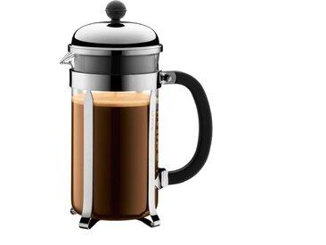 bodum Kaffeebereiter Chambord 1000 ml /Silber, M (Medium)