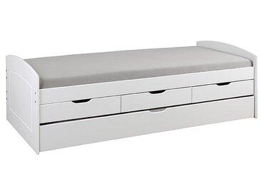 Inter Link Funktionsbett Rieka, 90x200 cm /Weiß, Holz