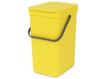 brabantia Abfallbehälter Sort&Go 12l Yellow /Gelb, Kunststoff