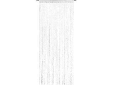 Fertiggardine Lurex 90 x 245 cm /Weiß, Polyester