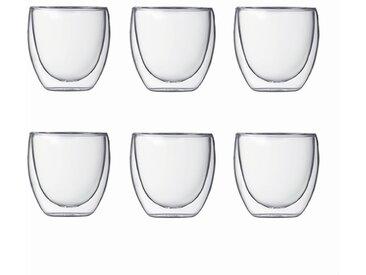 bodum Gläserset Pavina 80 ml 6tlg. /Klar, S (Small) Glas