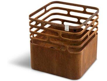 Höfats Feuerschale Cube rostig /Rostfarbig, Edelstahl
