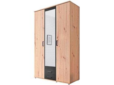 Pol Power Drehtürenschrank Chicago 120 x 197 cm /Eiche, Holz