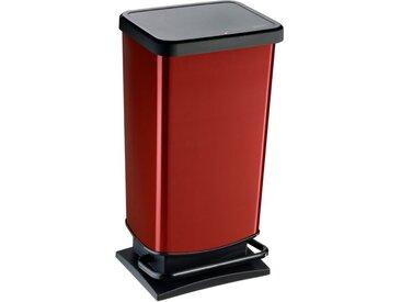 Rotho Treteimer Paso 40l /Rot, Kunststoff