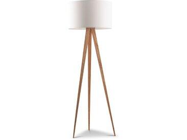 Zuiver Stehlampe Tripod /Weiß, Holz, Textil, Natur