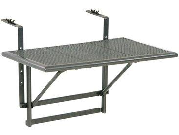 Balkonhängetisch Toulouse, Stahl 60 x 40cm /Grau, Metall
