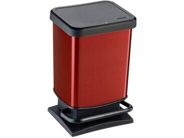 Rotho Treteimer Paso 20l /Rot, Kunststoff