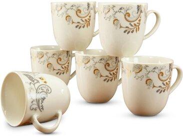 CreaTable Kaffeebecher Palacio 6tlg., Porzellan
