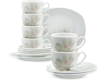 CreaTable Kaffeeservice Magnolie 18tlg., Porzellan