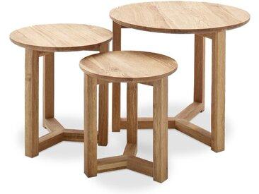 MCA Beistelltisch Faye 3er Set /Eiche, Holz