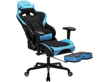 Nancys Gamer Stuhl - Verstellbarer Bürostuhl - Schwarz / Blau -