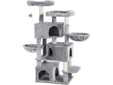 Nancys Kratzbaum mit drei Katzen Höhlen - 164 cm - Katzenhaus -