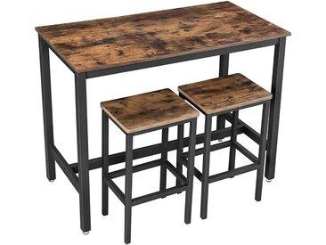 Nancy's Stehtisch mit Barstühlen - Stehtische Holz - Industrial