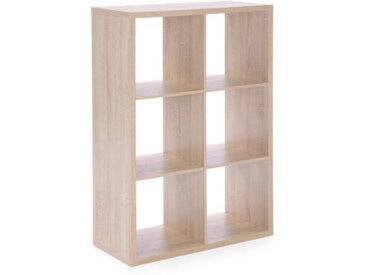 Z2 Regalwürfel (6er) MAX, Braun, Holznachbildung