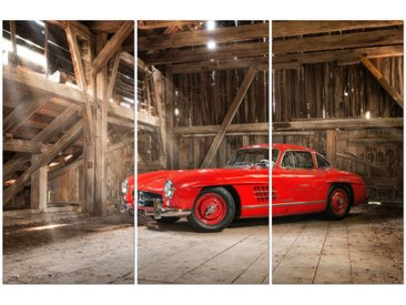"Kollektion Wiedemann Bild ""300 SL RED I"", Mehrfarbig, Materialmix"