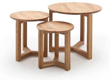 Z2 Beistelltisch 3er-Set FAYE, Braun, Holz