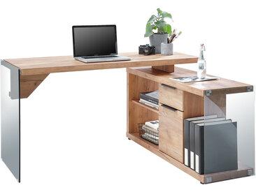 Jahnke Eck-Schreibtisch CGL-C-150E, Braun, Holznachbildung