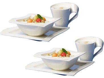 Villeroy & Boch Frühstücks-Set 6-tlg. NEW WAVE, Weiß, Porzellan