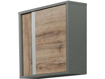 Stylife Oberschrank SPLIT, Grau, Holznachbildung