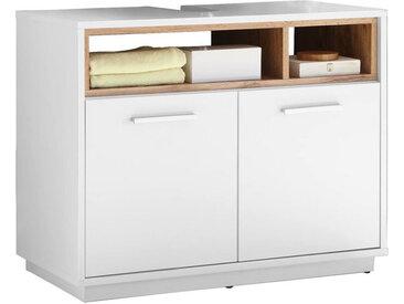 Zurbrüggen Waschbeckenunterschrank MILANO, Weiß, Holznachbildung