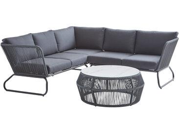 Amatio Lounge-Set FERRARA, Schwarz, Stoff