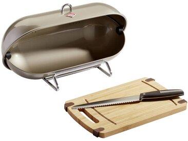 Wesco Breadboy+Schneidbrett+Messer, Grau, Metall