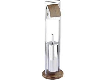 Zurbrüggen Stand WC-Garnitur Belingo, Silber, Stahl