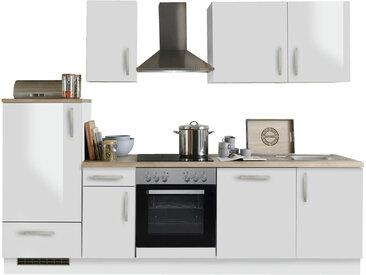 Menke Küchen Küchenblock White Premium 270, Weiß, Holznachbildung