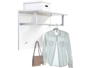 XORA Garderobenpaneel GALANT, Weiß, Holz