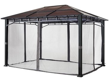 Moskitonetz (4-teilig) für Gartenpavillon Sunset Deluxe 3x3m, loft grey