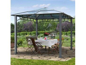 Gartenpavillon 3x3m Polycarbonat-Platten 8 mm wasserdicht loft grey