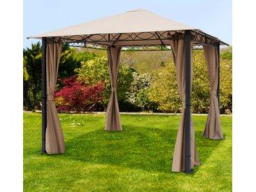 Gartenpavillon Rendezvous Premium cappuccino, 3x3m
