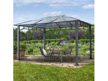 Gartenpavillon 3x4m Polycarbonat-Platten 8 mm wasserdicht loft grey