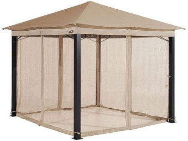 Moskitonetz (4-teilig) für Gartenpavillon Sunset Premium 3x4m, cappuccino