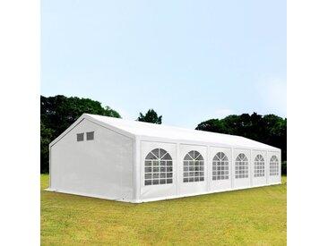 6x12 m Partyzelt, PE 300 g/m², mit Bodenrahmen, weiß