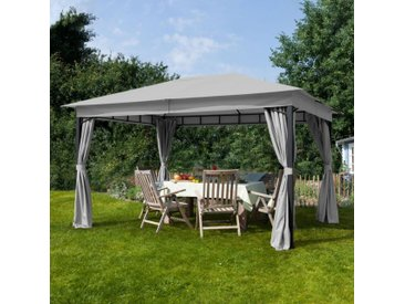 Gartenpavillon 3x4m Polyester mit PU-Beschichtung 180 g/m² wasserdicht stone