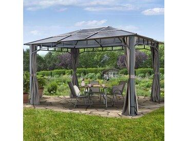 Gartenpavillon Hardtop Sunset Deluxe loft grey, 3x4m
