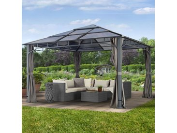 Gartenpavillon Hardtop Sunset Deluxe, loft grey, 4x4m