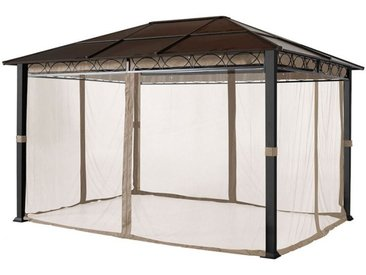 Moskitonetz (4-teilig) für Gartenpavillon Rendezvous Deluxe 3x3m, cappucino