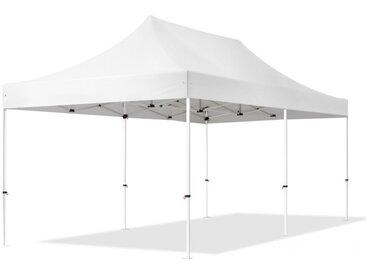 Faltpavillon 3x6m Hochleistungspolyester 300 g/m² wasserdicht weiß
