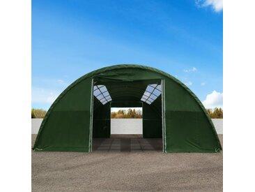 Rundbogenhalle 9,15x12m PVC 720 g/m2 wasserdicht dunkelgrün