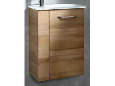 Fackelmann Gäste-WC Set 45 cm, Braun hell, 2-teilig