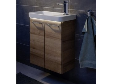 Fackelmann MILANO Gäste-WC Set 3-teilig, 55 cm breit, Braun hell, Keramik